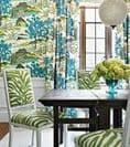 Thibaut Daintree Wallpaper in Blue on White